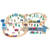 【Mentari 木製玩具】豪華運輸交通軌道組