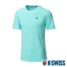 【超取】K-SWISS Back KS Logo Tee涼感排汗T恤-男-薄荷綠