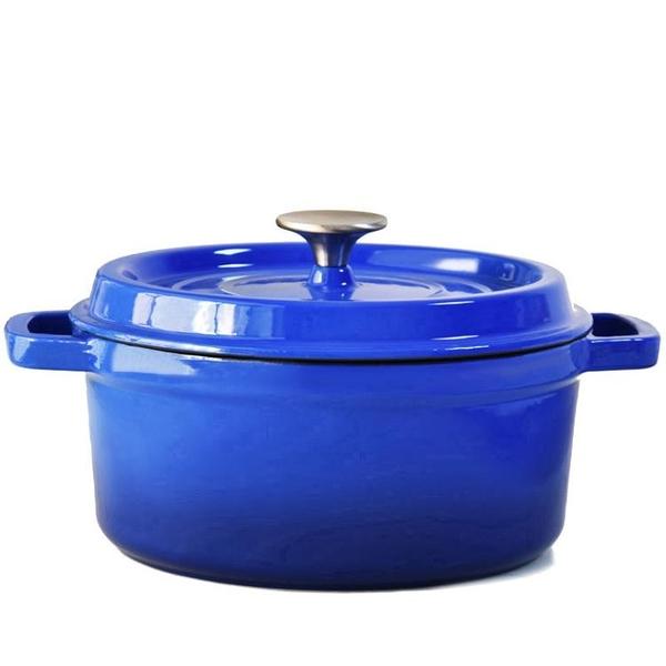 無涂層加厚琺瑯鑄鐵鍋 燉鍋湯鍋不黏鍋煲湯悶燒鍋電磁爐通用 HM  范思蓮恩