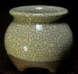 [協貿國際]  創意青瓷菖蒲花盆陶瓷鬲式花罐 (1入)