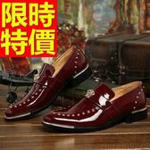 男皮鞋-輕便百搭休閒懶人男樂福鞋3色59p9【巴黎精品】