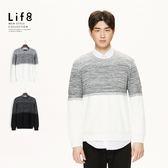 Life8-Formal 織紋漸層 混紗針織衫【11184】