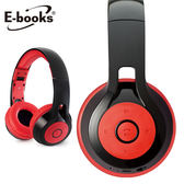 E-books S36 藍牙4.1無線折疊耳機麥克風(黑紅)