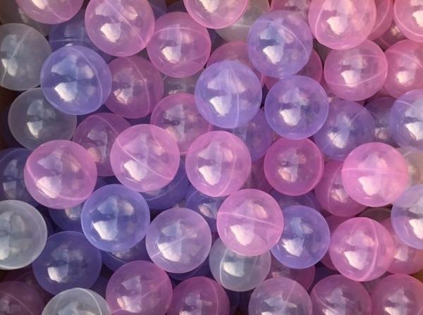 台灣製~現貨~加厚7公分遊戲彩球~透明粉紫色混色50球賣場~球屋球池球~海洋球/波波球~幼之圓