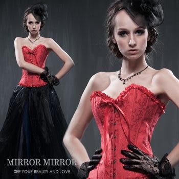 馬甲 低調紅奢華塑身馬甲-束身、表演服_蜜桃洋房