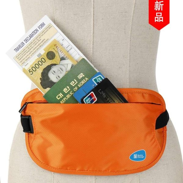 【狐狸跑跑】超薄旅行貼身防盜腰包 出國旅游運動護照包隱形錢包防偷錢包男女B2614A