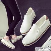 2018春季新款帆布女鞋韓版百搭一腳蹬小白板鞋學生平底懶人布鞋潮