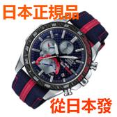 免運費 日本正規貨 CASIO EDIFICE Scuderia Toro Rosso 內置藍牙功能 太陽能鐘 男士手錶 EQB-1000TR-2AJR
