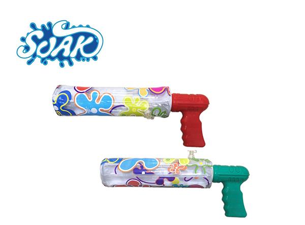 SOAK 充氣握把水槍- 戲水/打水戰 兒童趣味玩具 增加戲水泳訓樂趣 (顏色隨機) AN0125