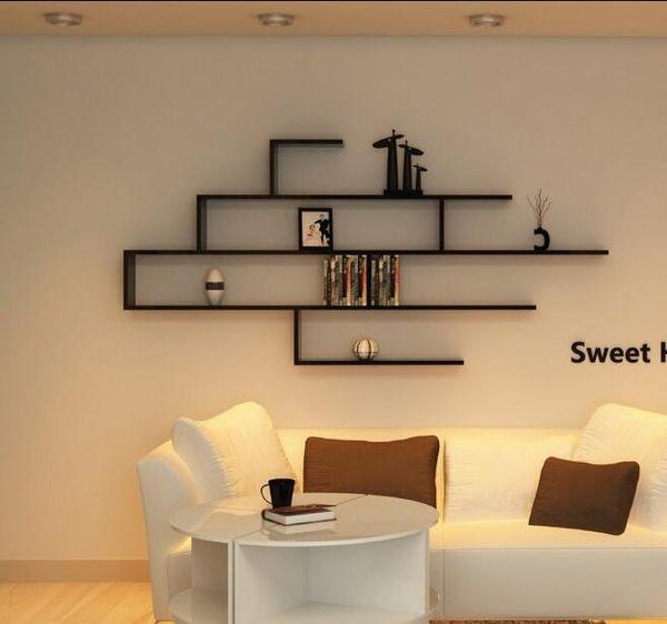 創意電視櫃壁掛背景牆裝飾架隔板牆上置物架【長160高80深20】