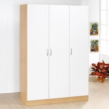 Hopma 三門衣櫥-白橡配白