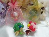 娃娃屋樂園男生版綠色花椰菜版 可愛毛球捧花吊飾圓球每組100 元新郎遊戲捧花新娘捧花
