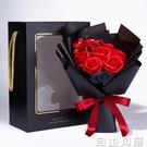 母親節禮物7朵紅肥皂花玫瑰花束康乃馨香皂花禮盒生日禮品定做 自由角落
