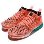 【六折特賣】Nike 休閒慢跑鞋 Wmns Air Presto Flyknit Ultra 粉紅 綠 運動鞋 女鞋【PUMP306】 835738-600
