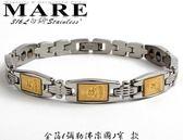【MARE-316L白鋼】系列: 金箔 (彌勒佛圖像)  金屬鍺 窄 款