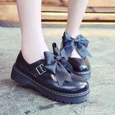 日系學院鞋日系圓頭桌角桌腳跟lolita鞋子交叉綁帶洛麗塔蘿莉女軟妹鞋大碼 電購3C