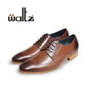 Waltz-復古刷色雕花紳士鞋212127-23(咖)