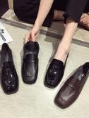 紳士鞋 英倫風小皮鞋女秋季網紅新款黑色百搭復古韓版學院粗跟單鞋冬 聖誕節交換禮物