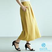 「Summer」定番素面打摺寬褲裙 - earth music&ecology