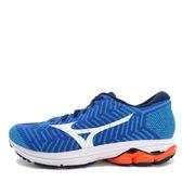 Mizuno Waveknit R2 [J1GC182907] 男鞋 運動 慢跑 避震 耐磨 舒適 美津濃 藍白