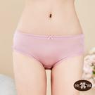 【岱妮蠶絲】純蠶絲42針70G單蝴蝶結中腰三角內褲(粉紫)