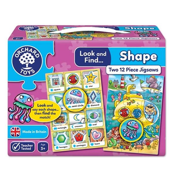 【英國 Orchard Toys】拼圖 小偵探系列-幾何形狀 OT-332