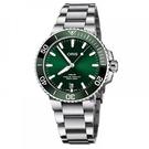 Oris Aquis 專業潛水300米日期機械錶 (0173377304157-0782405PEB)綠水鬼/43.5mm