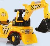 電動挖掘機玩具兒童電動滑行挖掘機男孩玩具車挖土機 全館免運igo
