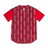 【現貨折券後6999】 CLASSICK SUPREME JACQUARD LOGO BASEBALL JERSEY 棒球衣 條紋 潮流 短T 短袖 SS19KN15