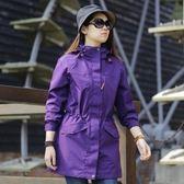 冬季戶外中長款沖鋒衣女子修身三合一外套