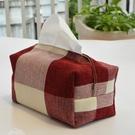 手工棉麻抽紙盒 車用紙巾盒 麻布面巾紙包...
