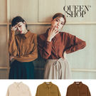 Queen Shop【01023554】單口袋素面雪紡襯衫 三色售*現+預*