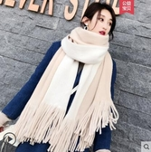 圍巾女秋冬季韓版百搭可愛學生情侶款ins少女士針織粗毛線圍脖男-風尚3C