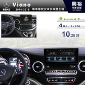 【專車專款】2016年~18年BENZ Viano 專用10.25吋觸控螢幕安卓多媒體主機*藍芽+導航+安卓*無碟四核心