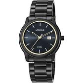 LICORNE力抗 entrée 品味生活時尚手錶-黑x金時標/41mm LT120MBBI-K
