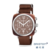 BRISTON 手工方糖錶 可可色 銀框 時尚百搭 禮物首選