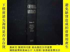 二手書博民逛書店CHEMICAL罕見ABSTRACTS VOLUME 90 19