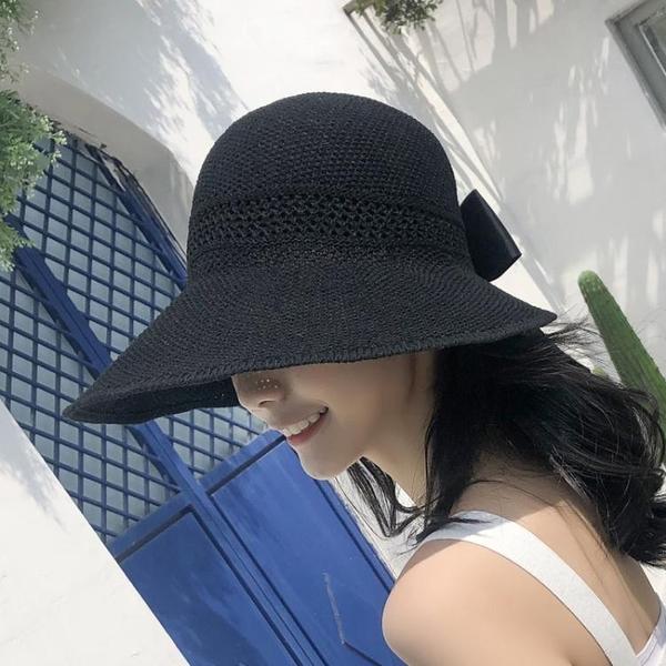 漁夫帽 夏季女遮陽帽日系防曬大沿帽韓版百搭漁夫帽女帽防曬遮陽太陽草帽 寶貝計書