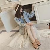 刺繡牛仔外套女春秋裝韓版寬鬆百搭bf學生短款翻領外套外衣上衣潮