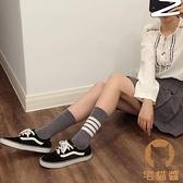 中筒襪小腿襪子女條紋潮春秋薄款撞色過膝JK長筒襪【宅貓醬】