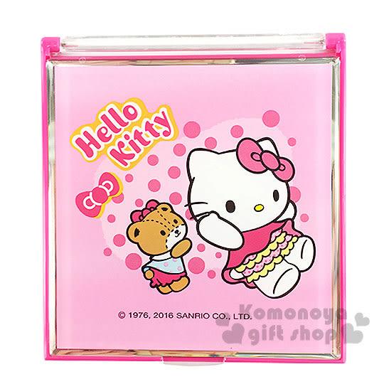 〔小禮堂〕Hello Kitty 立鏡折疊鏡《小.粉.小熊.點點.蝴蝶結》 4712937-66555