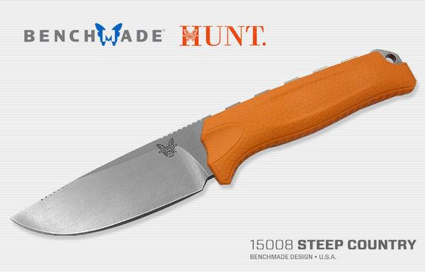 STEEP COUNTRY 獵直刀 / 橘色膠柄-#BENCH 15008-ORG
