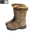 ESKT 女中筒雪鞋SN225 / 城市綠洲 (雪靴、防潑水、刷毛、冰爪)