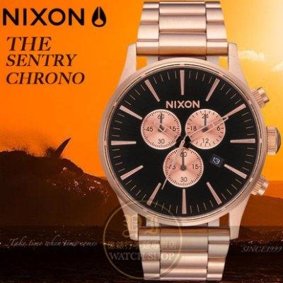 NIXON 實體店THE SENTRY CHRONO潮流時尚腕錶A386-1932公司貨/極限運動/名人配戴/情人節