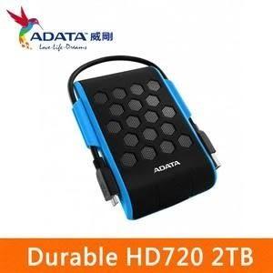 【台中平價鋪】全新 ADATA威剛 Durable HD720 2TB  2.5吋軍規防水防震行動硬碟 (藍)