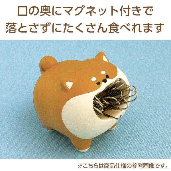 Hamee 日本 Decole 飢餓小動物 迴紋針 桌上收納 辦公小物 (貓咪) 586-929295