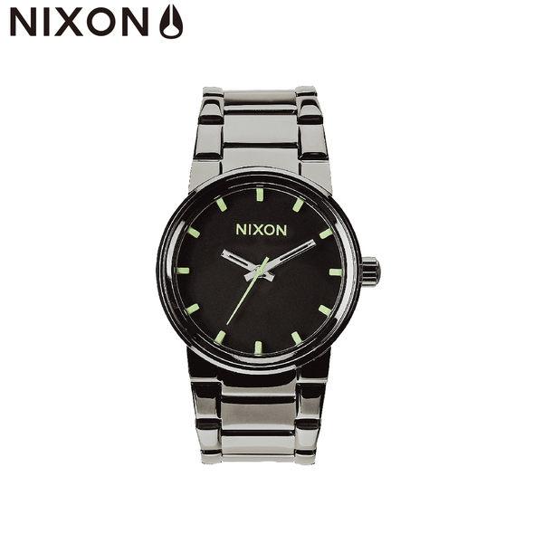 NIXON手錶 原廠總代理A160-1885 THE CANNON 亮黑色 潮流時尚鋼錶帶 男女 運動 生日情人節禮物