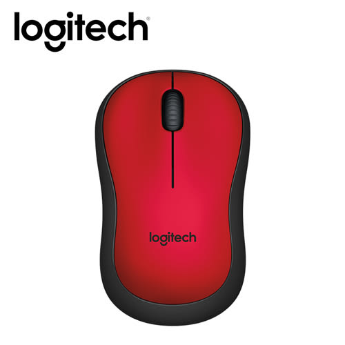 【logitech 羅技】M221 靜音無線滑鼠 紅 【贈USB風扇】
