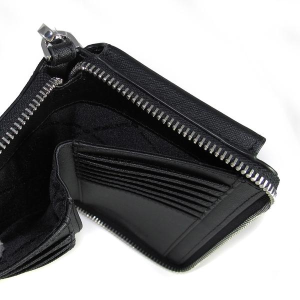 艾莉莎國際【現貨】MICHAEL KORS 防刮皮革雙層中長夾/手機包(黑色)-35S0STVL2L