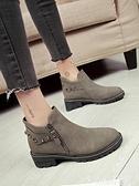 顯瘦馬丁靴女英倫風網紅靴子女學生切爾西小短靴韓版百搭加絨女靴 韓國時尚週